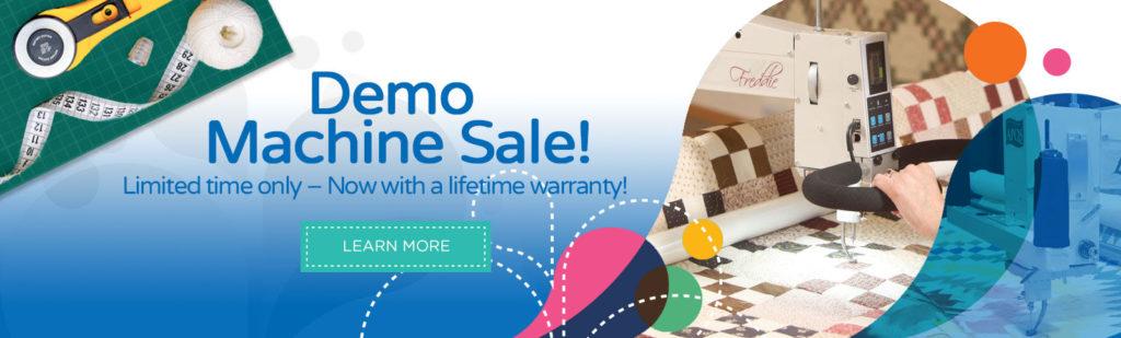 demo long arm quilting machine sale