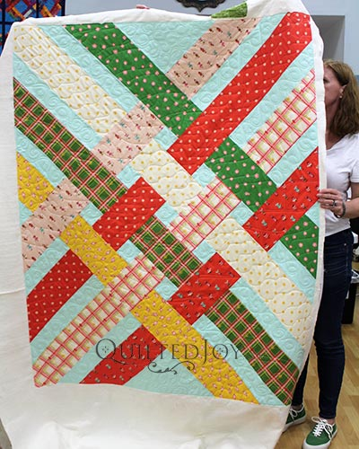 Erin's Libby Quilt with Christmas themed fabric