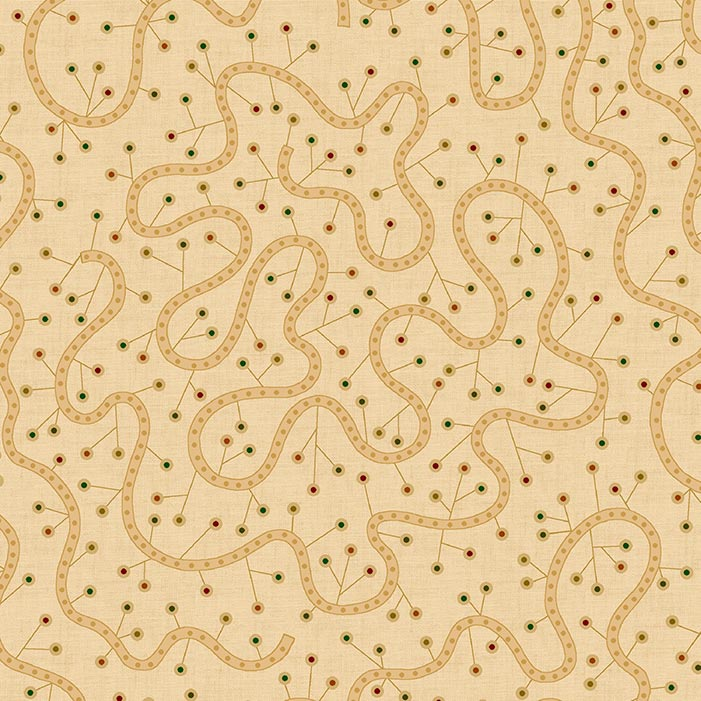 "Beige Swirly Vine 108"" Wide Quilt Backing Fabric, available at Quilted Joy"