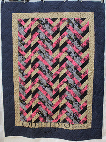 Beverly's French Braid Quilt, quilted by Angela Huffman of Quilted Joy