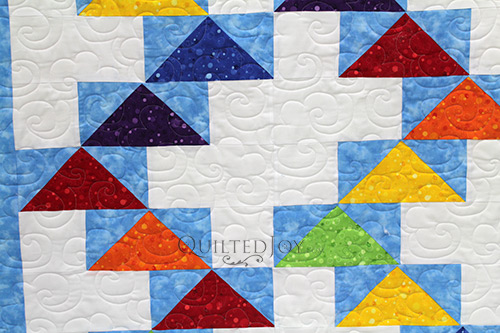 Longarm Quilting on Bill's Flying Geese Quilt