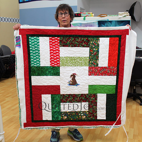 Christmas Quilt quilted at Quilted Joy