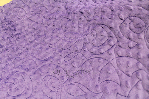 Purple Cuddle Dot Fabric, quilted