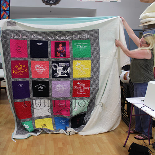 T-shirt Quilt Made with Beauty Pageant T-shirts