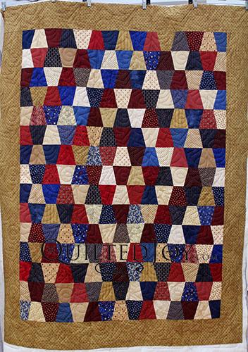 Patriotic Tumbler Block Quilt