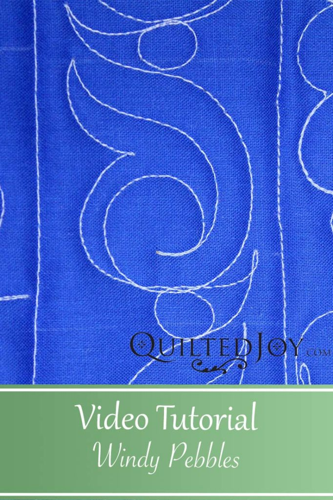 """Video Tutorial Windy Pebbles"" Learn how to quilt the Windy Pebbles machine quilting design"