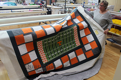 JoAnna University of Tennessee Panel Quilt
