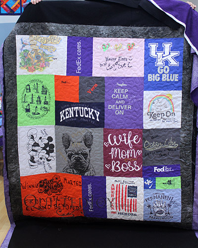 FedEx Retiree T-shirt Quilt