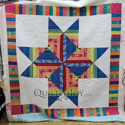 Emily's Big Sawtooth Star Quilt