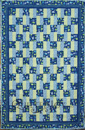 Joanne's Under the Sea Fishes Quilt, longarm quilting by Angela Huffman of Quilted Joy