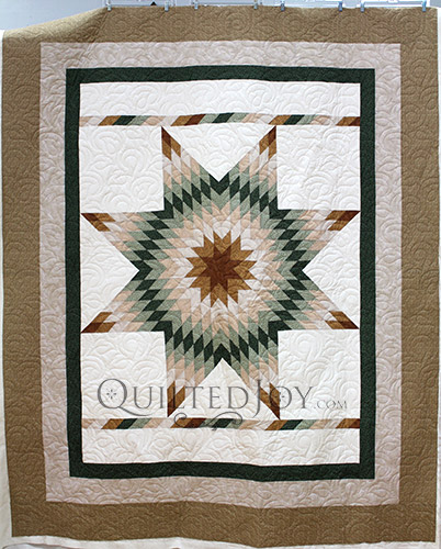 Kathy's Lone Star Quilt, longarm quilting by Angela Huffman
