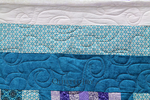 Linda's Bargello Heart Quilt after her longarm machine rental at Quilted Joy