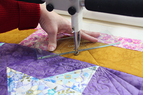 Quilting with Garden Lines Ruler