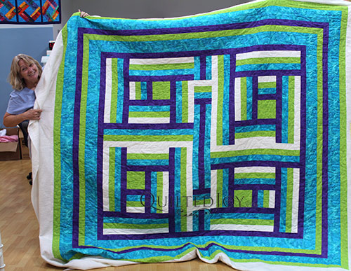 Carol Quilting the Blues Quilt