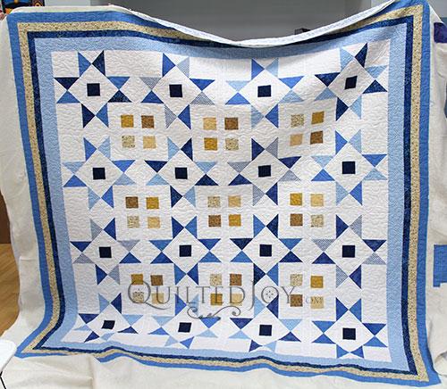 Emily Blue White Star Quilt