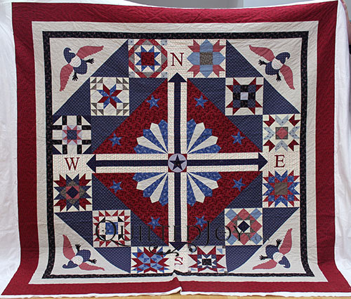 Bobby's Patriotic Sampler Quilt, longarm quilting by Angela Huffman