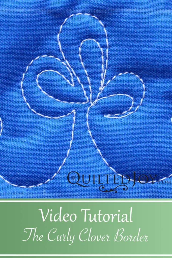 """Video Tutorial How to Quilt The Curly Clover Border Design"""