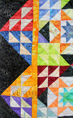 Pam Double Sawtooth Star Quilt CU 1