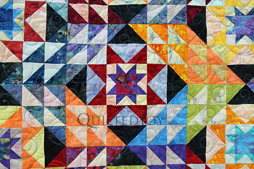 Pam Double Sawtooth Star Quilt CU 2