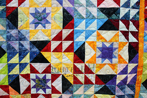 Pam Double Sawtooth Star Quilt CU 3