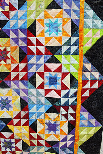 Pam Double Sawtooth Star Quilt MS 2