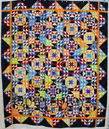 Pam Double Sawtooth Star Quilt WS