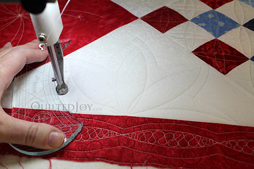 Rule Your Quilt - Ruler Work on Patriotic Quilts