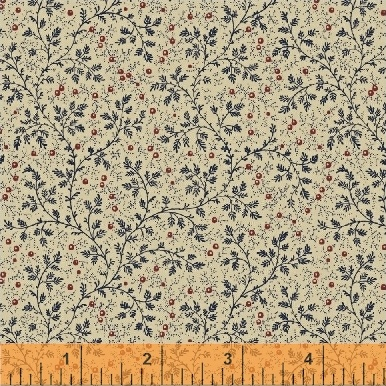 "Berry Vine Navy 50665-2 108"" Wide Quilt Backing Fabric"