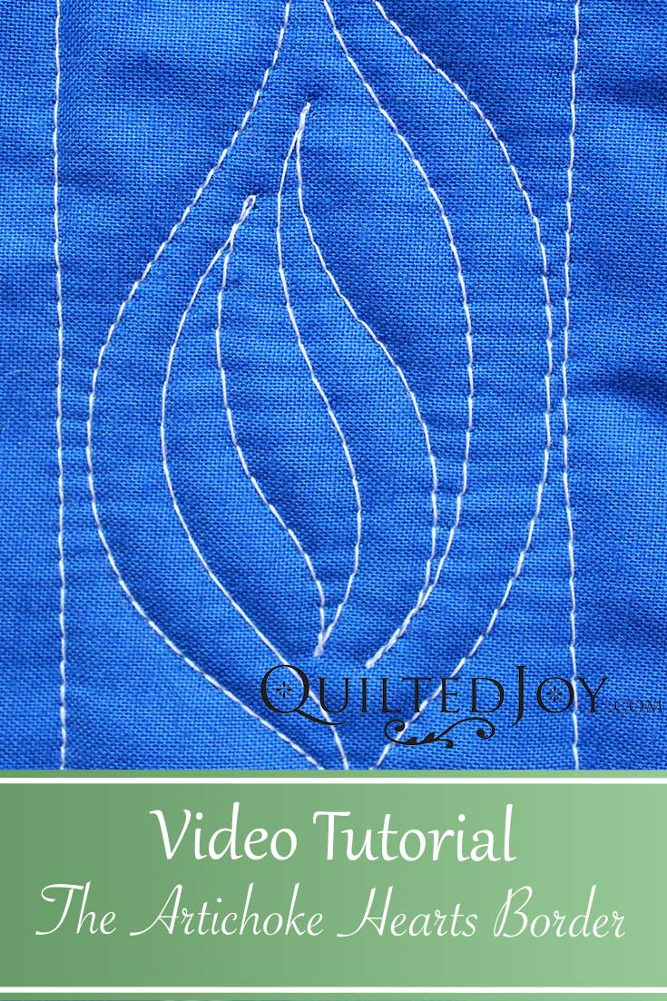 Video Tutorial: How to quilt the artichoke hearts serpentine border design