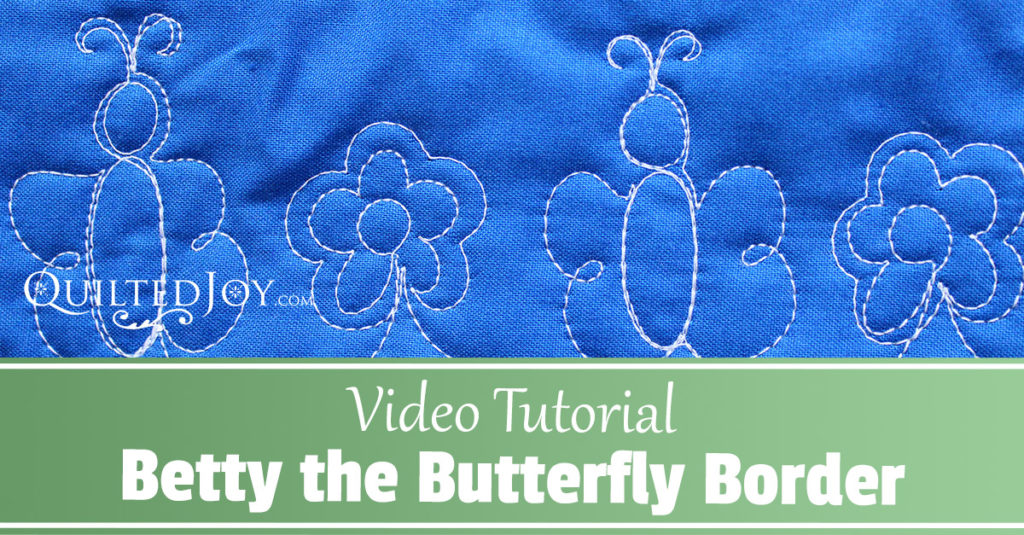 How to quilt a butterfly border - Betty the Butterfly