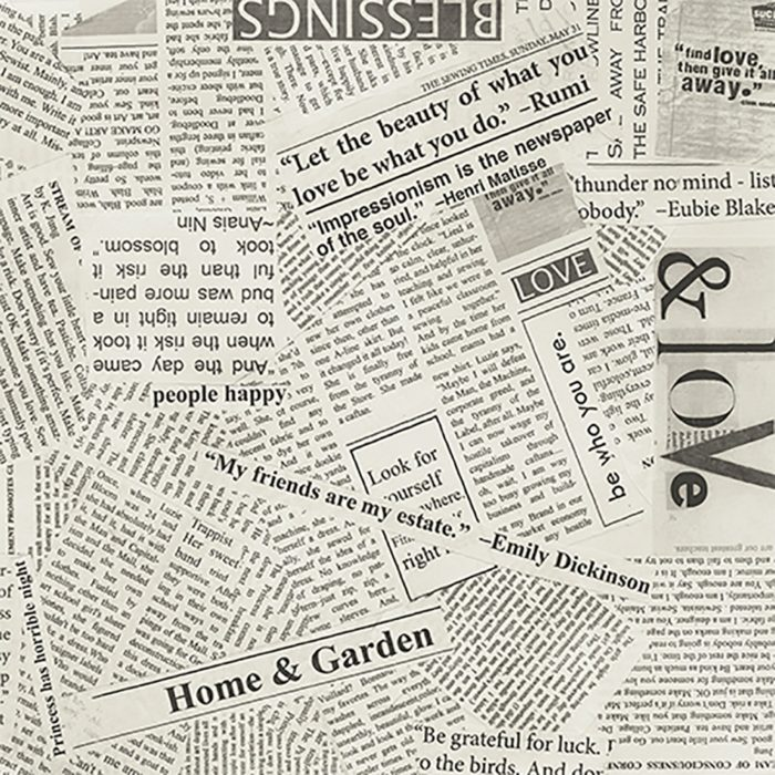 """Newspaper 108"""" Quilt Backing, available at Quilted Joy"""