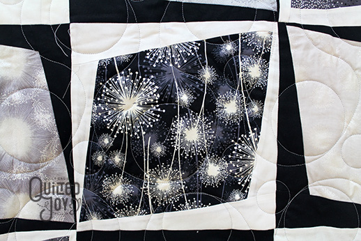 Holly's Black and White Quilt inspired by Mid-Century Modern Design, quilted by Angela Huffman