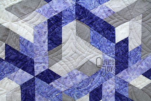 Sarah's Silver and Purple Stars Quilt, quilted by Angela Huffman of Quilted Joy