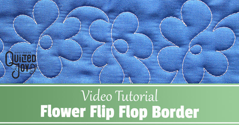 Video Tutorial Flower Flip Flop Border