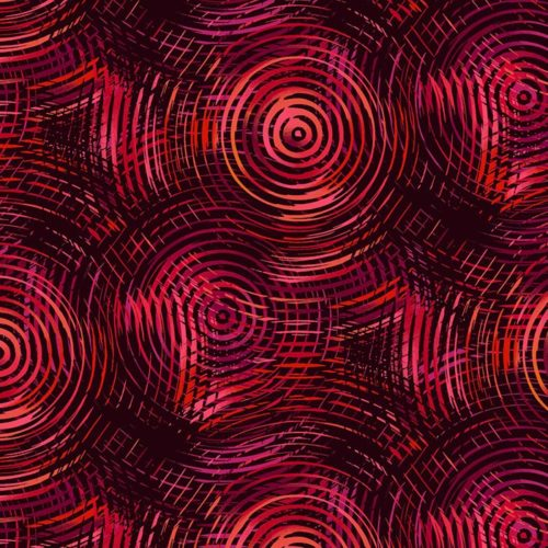 Circle Play 108 Quilt Backs - Red Ombre Circles, available at Quilted Joy
