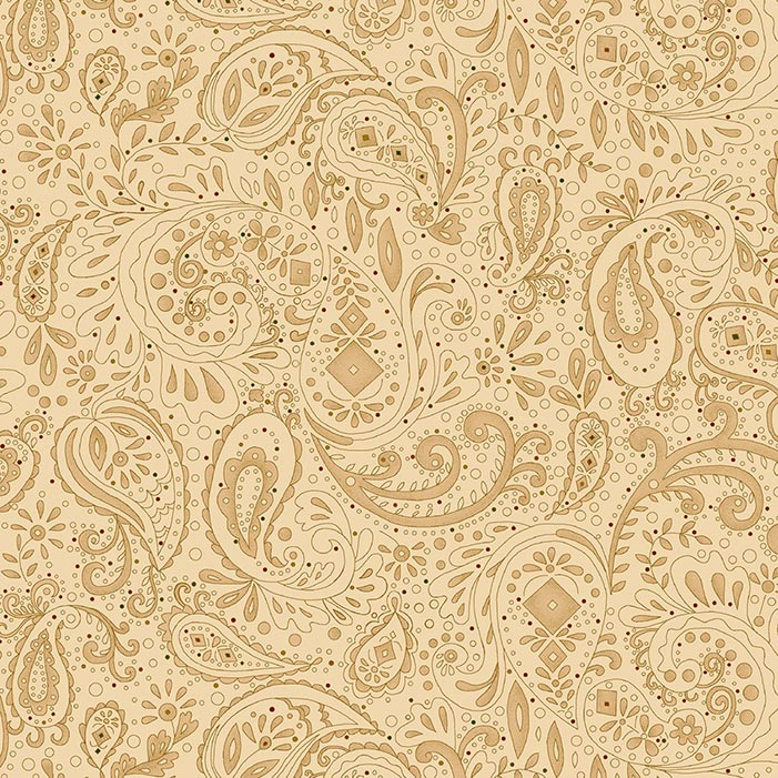 "Spiced Paisley 108"" Wide Quilt Backing Fabric, available at Quilted Joy"