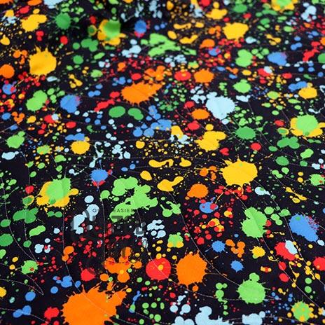 Paint splatter backing fabric for Ali's Split Easy Quilt