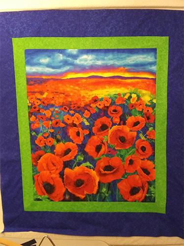 Brenda's Poppy Panel Quilt