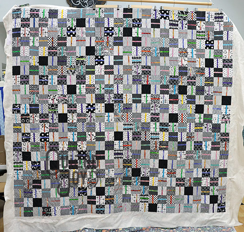 Ali's Split Easy Quilt, longarm quilting by Quilted Joy