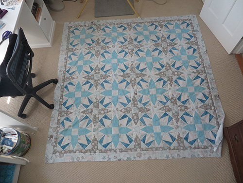 Polly's Caribbean Dreams Quilt. Pattern designed by Angela Huffman Quilted Joy