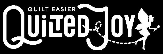 QuiltedJoy Logo Horizontal White