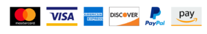 Mastercard Visa Discover PayPal Amazon Pay accepted