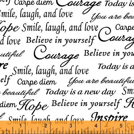 41948 5 Words of Encouragement Fabric