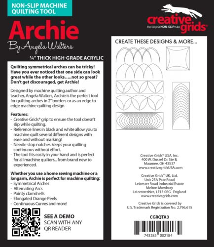 Archine Machine Quilting Ruler Instructions e1574266646912