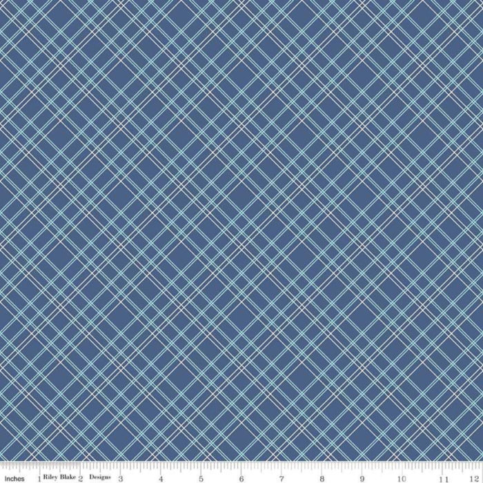 "Bee Backing 108"" Wide Blue Plaid, available at Quilted Joy"