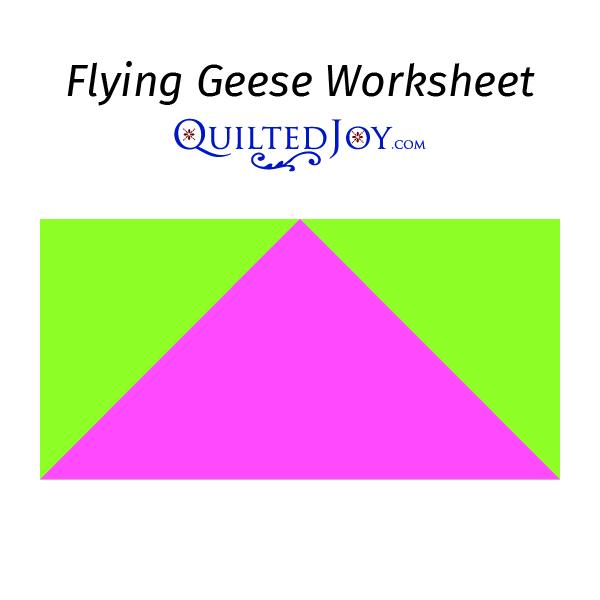 Flying Geese Worksheet 1