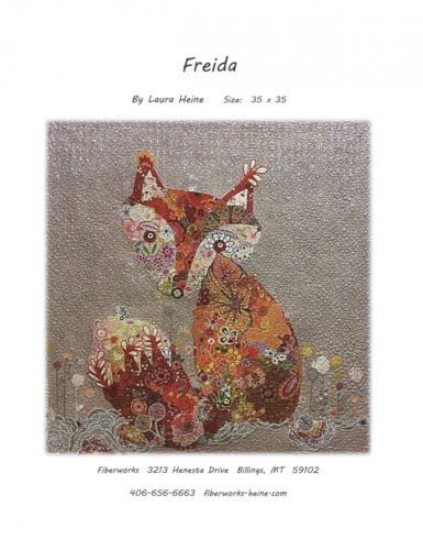 Freida the Fox Collage Pattern Cover by Laura Heine