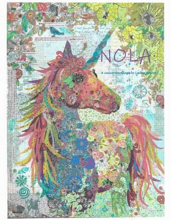 Laura Heine Nola Unicorn Collage Pattern