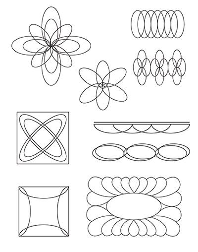 Oval C D designs
