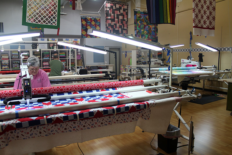 Longarm Machine Renters at Quilted Joy